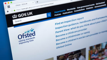 Homepage of the website for the Office for Standards in Education, Childrens Services and Skills