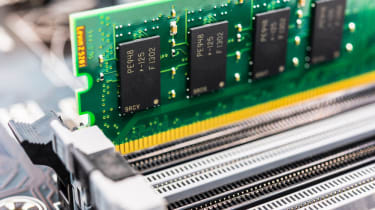 RAM sticks in a motherboard