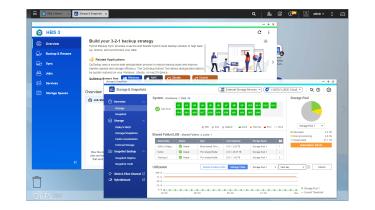 A screenshot of the Qnap TS-h2490FU QuTS hero edition's snapshot management software