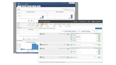 A screenshot of the Barracuda Backup Vx cloud control software
