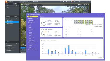 Screenshots of the Qnap QGD-3014-16PT management software