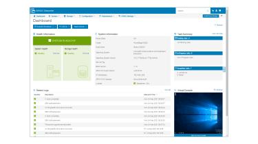 Dell EMC PowerEdge C6520 iDRAC9 dashboard