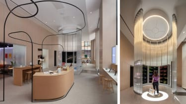 The sales desk and 'imagination space' at the Google Store New York