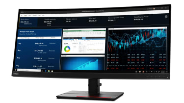 The front of the ThinkVision P34w-20 monitor