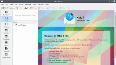 The KMail app in Ubuntu