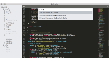 A screenshot of the Sublime IDE