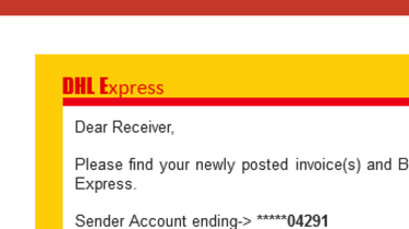 A screenshot of a malicious email showing a lack of personalisation