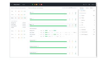 A screenshot of the Fujitsu Primeflex for Nutanix Enterprise Cloud VM management panel