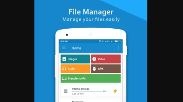 A screenshot of the ES File Manager homepage