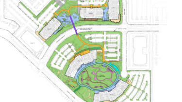 The building plans of Google's new campus in San Jose