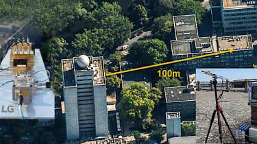 Bird's eye view of LG's 100 metres 6G trial