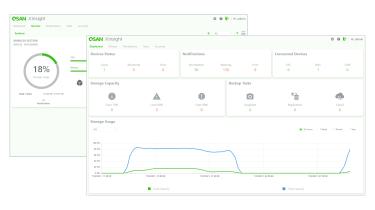 A screenshot of the Qsan XCubeNAS XN8012S's Xinsight software