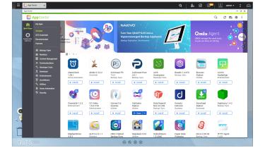 A screenshot of the Qnap TS-h1283XU-RP's App Center