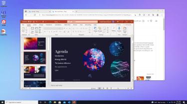 A screenshot of Windows 365 running Microsoft PowerPoint
