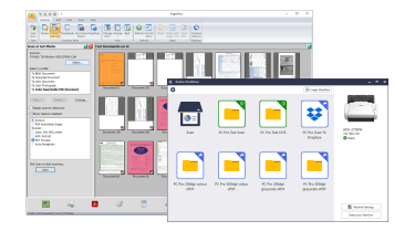 A screenshot of the Brother ADS-2700W scan management software