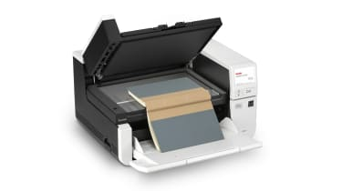A photograph of the Kodak Alaris S2085f's flatbed scanner