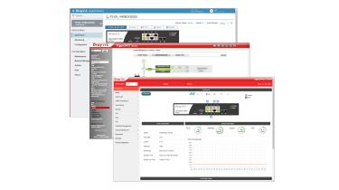 A screenshot of DrayTek VigorSwitch P2100's management software