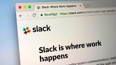 Web browser showing a Slack page