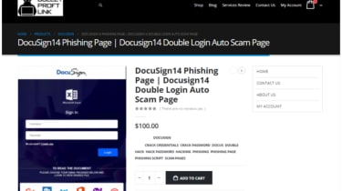 Purchase page for a DocuSign template from the BulletProofLinks site