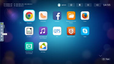 A screenshot of the Qnap TS-h3088XU-RP apps menu