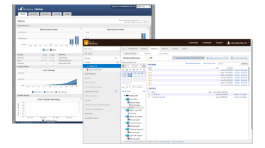 A screenshot of the Barracuda Backup 490 management console