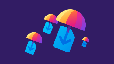 Graphic representing the Firefox Send service