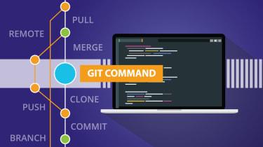 Illustration representing git code management