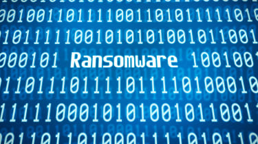 """""""Ransomware"""" text within binary code"""