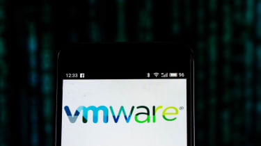 VMware app splash screen on a computer screen