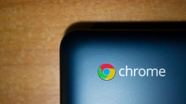 Chrome OS on the lid of a laptop