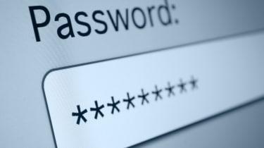 Password stars on a computer screen