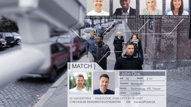 Pedestrians being subject to facial recognition technology