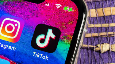 TikTok app on a smartphone