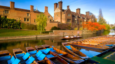Landscape picture taken in the UK city of Cambridge