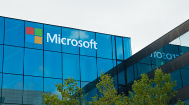 An image of a Microsoft building
