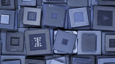 Stacks of computer chips