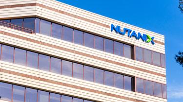Nutanix building in front of a blue sky
