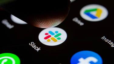 Slack's app on a smartphone