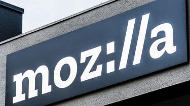 Mozilla company logo on a building