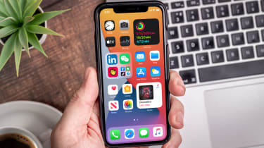 The iOS 14 operating system