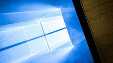 Windows logo displayed on a laptop screen