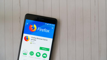 The installation Firefox page for the app on an Android device