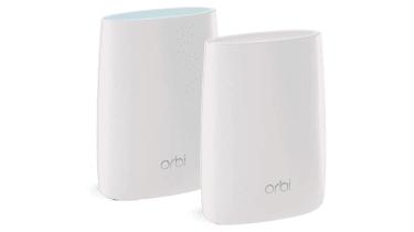 Netgear Orbi RBK50 against white background