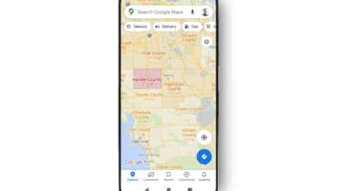 Google Maps COVID-19 overlay in Florida