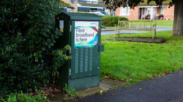 Advert for full-fibre on a network cable box