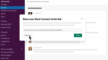Slack's new external direct messaging service