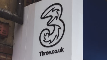 A ThreeUK shop sign