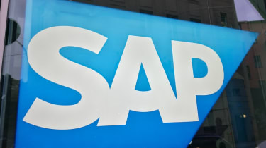 The SAP logo on one of its buildings