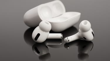 AirPod Pro headphones and case