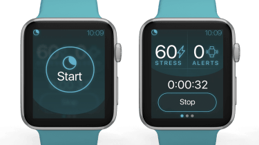 NightWare app running on two teal Apple Watches